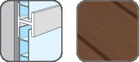 DA10307 Hopa Spojovací profil plastový 07 tmavé dřevo 3m
