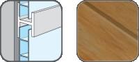DA10328 Hopa Spojovací profil plastový 28 hnědý melír 3m