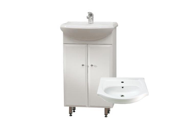 Well BEATA 50 ZV W50854 Koupelnová skříňka s umyvadlem, závěsná s nožičkami