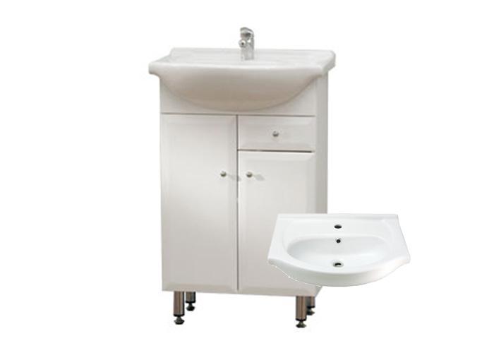 Well BEATA S 50 ZV W50875 Koupelnová skříňka s umyvadlem, závěsná s nožičkami, zásuvka
