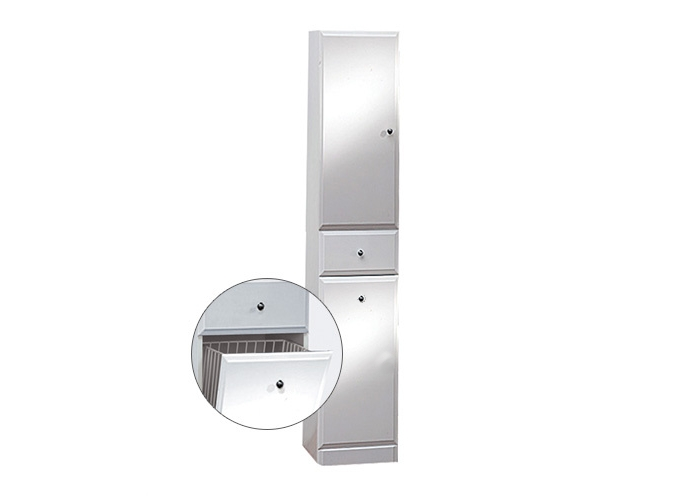 Well BEATA VK 170 L W50835 Koupelnová skříňka vysoká plná, sokl, koš, levá
