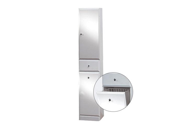 Well BEATA VK 170 P W50836 Koupelnová skříňka vysoká plná, sokl, koš, pravá