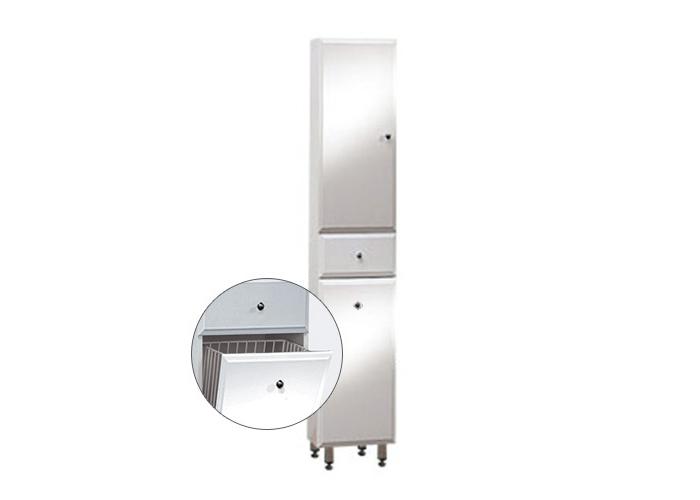 Well BEATA VK 170 ZV L W50867 Koupelnová skříňka vysoká plná, závěsná s nožičkami, koš, levá