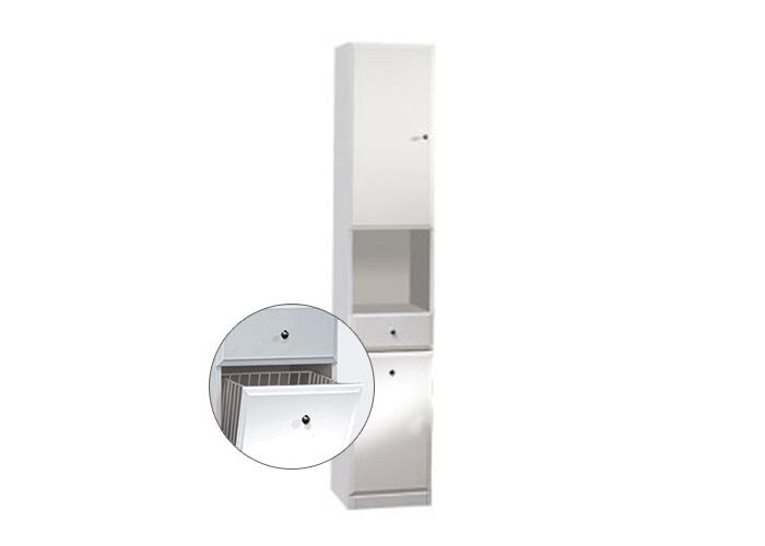 Well BEATA VK 32 L W50839 Koupelnová skříňka vysoká, sokl, koš, levá