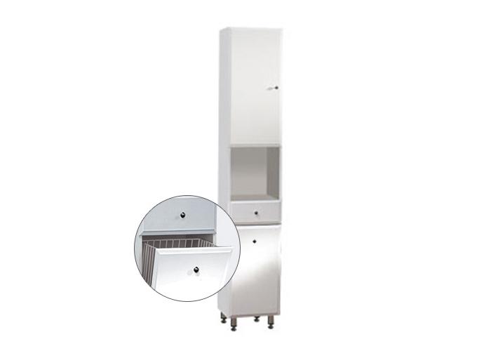 Well BEATA VK 32 ZV L W50869 Koupelnová skříňka vysoká, závěsná s nožičkami, koš, levá