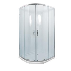 Well CATANIA 90 clear MRAMOR W52532 sprchový kout s mramorovou vaničkou