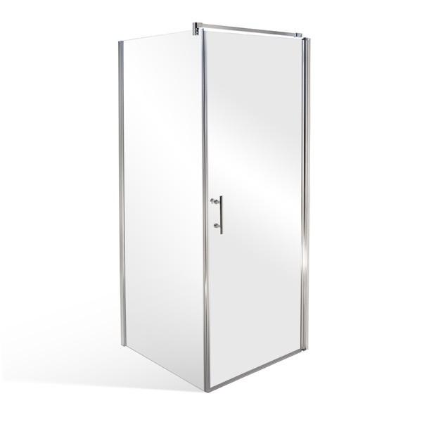 Well ELISON NIKE 90 W50898 Luxusní čtvercová sprchová zástěna s mramorovou vaničkou