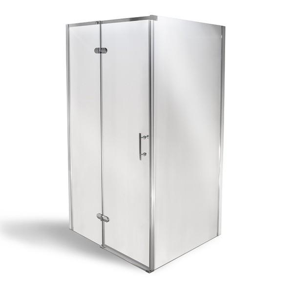 Well MANU ZINA 80 x 100 cm + MRAMOR vanička W50899 Luxusní obdélníková sprchová zástěna
