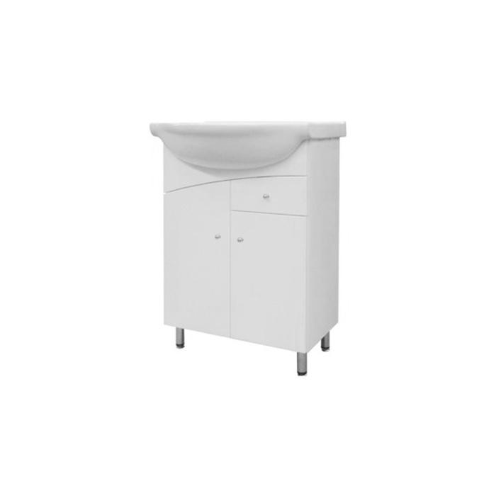 Well NEPTUN 55 ZV W51908 Koupelnová skříňka s umyvadlem, závěsná s nožičkami