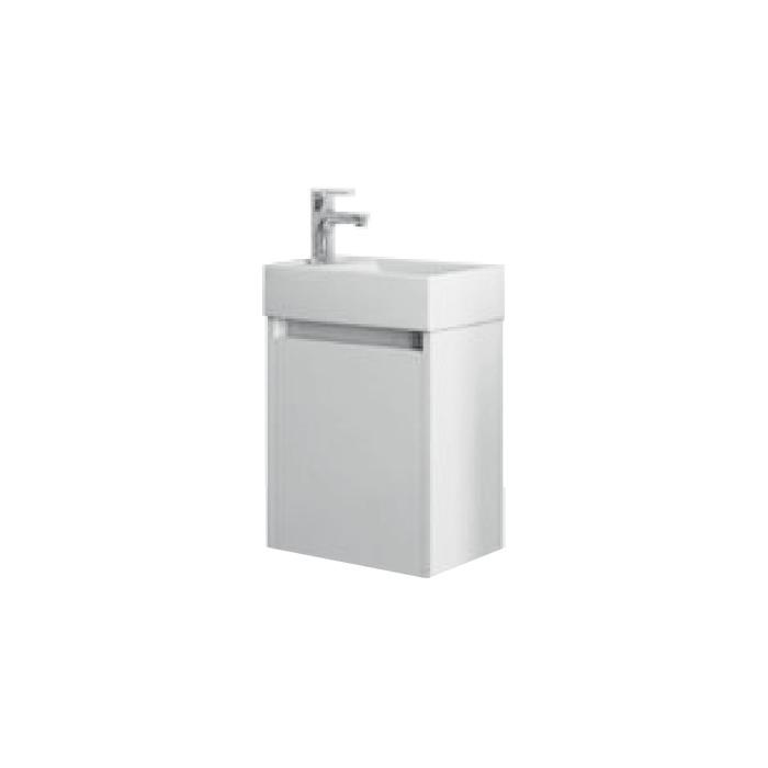 Well SAGE 40 Bílá L W51905 Koupelnová skříňka s umyvadlem, závěsná, levá