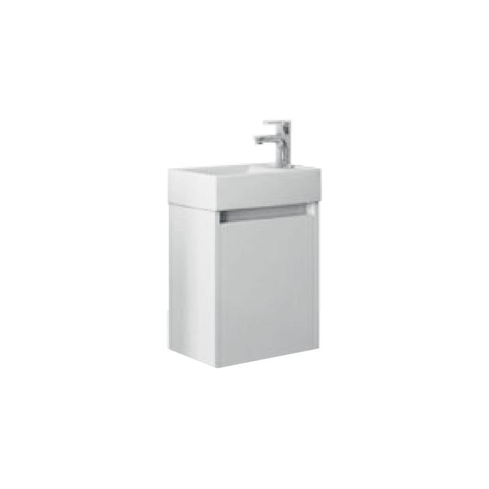 Well SAGE 40 Bílá P W51906 Koupelnová skříňka s umyvadlem, závěsná, pravá
