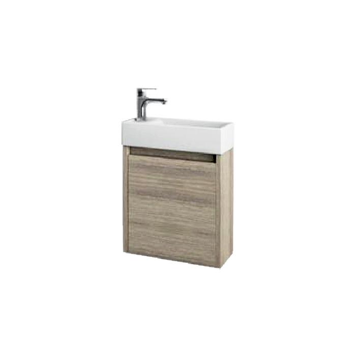Well SAGE 40 Oak L W51901 Koupelnová skříňka s umyvadlem, závěsná, levá