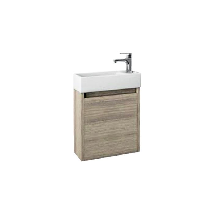 Well SAGE 40 Oak P W51900 Koupelnová skříňka s umyvadlem, závěsná, pravá