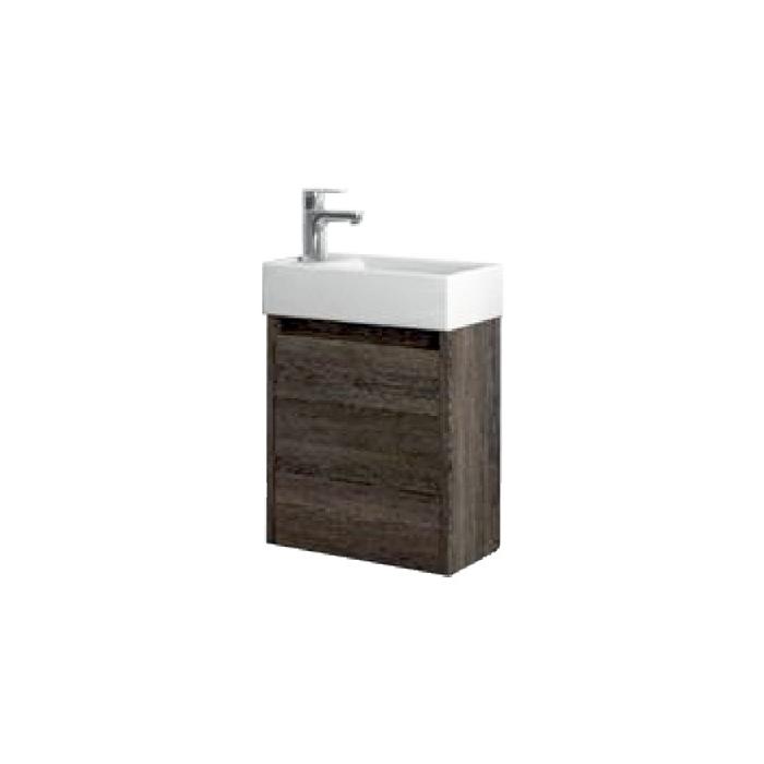 Well SAGE 40 Wenge L W51904 Koupelnová skříňka s umyvadlem, závěsná, levá