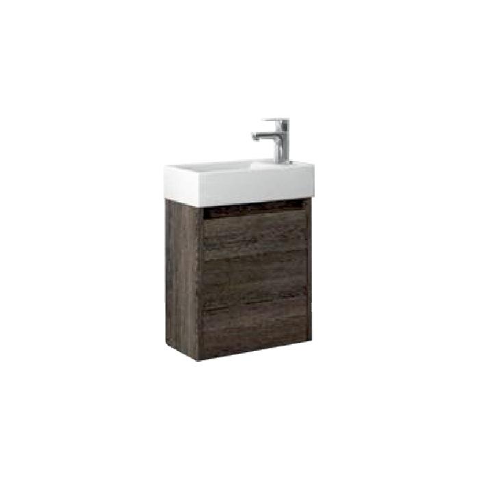 Well SAGE 40 Wenge P W51903 Koupelnová skříňka s umyvadlem, závěsná, pravá