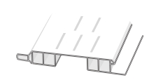 D410603 Hopa Ventilační profil venkovní 43 olše 3m