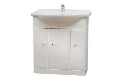 Well BEATA 75 W869 Koupelnová skříňka s umyvadlem, sokl